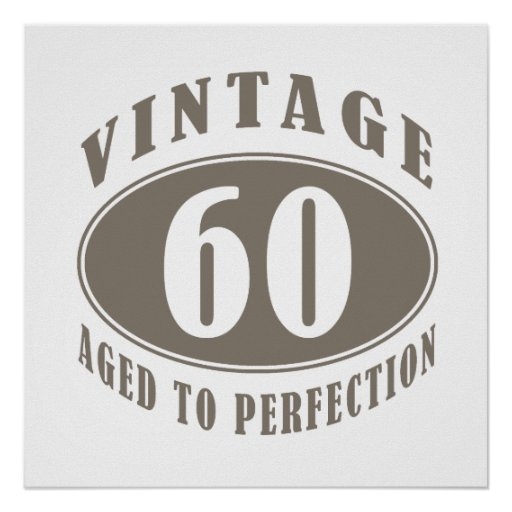 Vintage 60th Birthday Gifts Poster