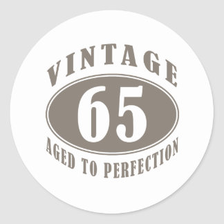 Vintage 65th Birthday Gifts Classic Round Sticker