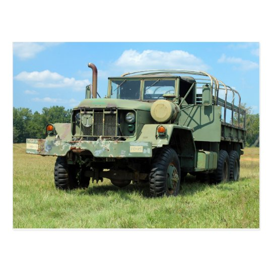 Vintage 6X6 Military Surplus Truck Postcard