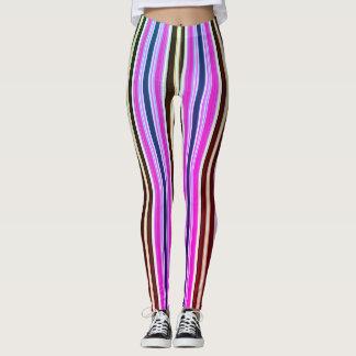 Vintage 70's Fashion Stripes Leggings