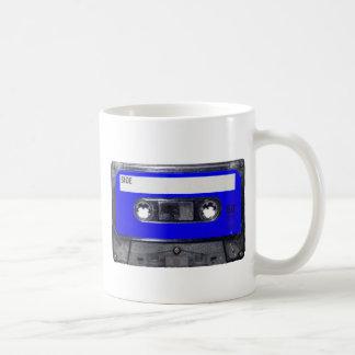 Vintage 80's Blue Label Cassette Basic White Mug