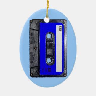 Vintage 80's Blue Label Cassette Ceramic Oval Decoration