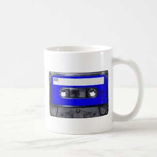 Vintage 80's Blue Label Cassette Coffee Mug