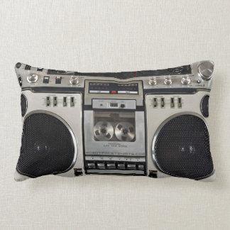 Vintage 80s Boombox Ghettoblaster Lumbar Cushion