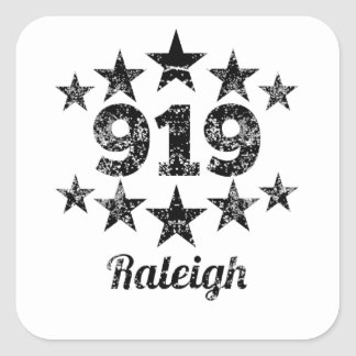 Vintage 919 Raleigh Square Sticker
