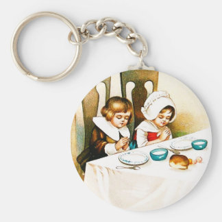 Vintage A Blessed Thanksgiving Keychains