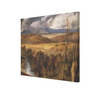 Vintage A Highland Landscape by Edwin Landseer Canvas Print