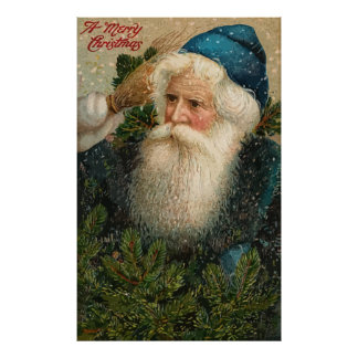 Vintage A Merry Christmas Poster
