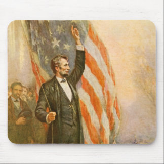 Vintage Abe Lincoln American President Independent Mouse Pad