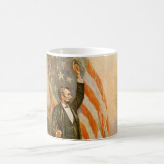 Vintage Abe Lincoln American President Independent Basic White Mug