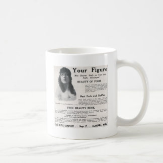 "Vintage ""About Your Figure"" Coffee Mugs"
