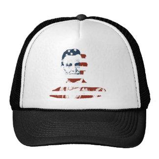 Vintage abraham lincoln american flag cap