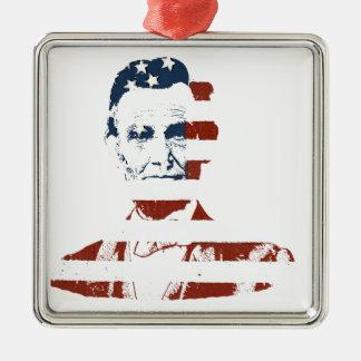 Vintage abraham lincoln american flag christmas ornament