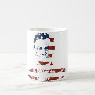 Vintage abraham lincoln american flag coffee mug