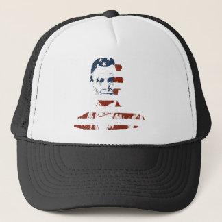 Vintage abraham lincoln american flag trucker hat