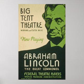 Vintage Abraham Lincoln Poster