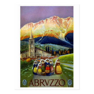 """Vintage Abruzzo Travel Poster"" Postcard"