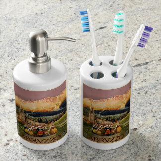 Vintage Abrvzzo Italy bathroom set