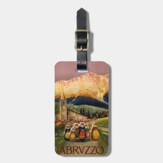 Vintage Abrvzzo Italy custom luggage tag