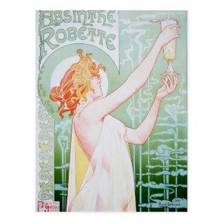 Vintage Absinthe Advertisement Post Card