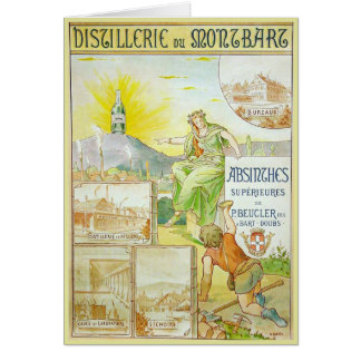 Vintage Absinthes Superieures Greeting Card