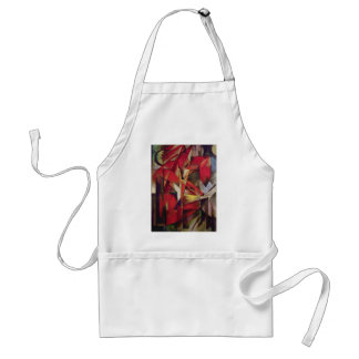 Vintage Abstract Cubism, Foxes by Franz Marc Standard Apron