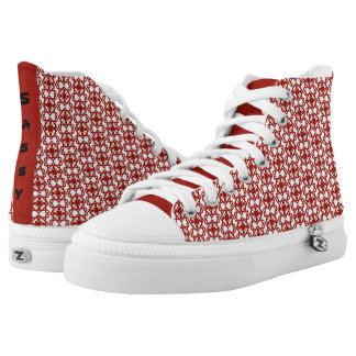 Vintage Abstract Design High Tops