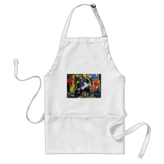 Vintage Abstract Fine Art, Cattle by Franz Marc Standard Apron