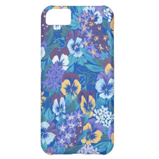 Vintage Abstract Floral Pansy iPhone 5C Case