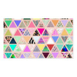 Vintage Abstract Floral Triangles Pastel Patchwork Pack Of Standard Business Cards