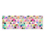 Vintage Abstract Floral Triangles Pastel Patchwork Pack Of Skinny Business Cards