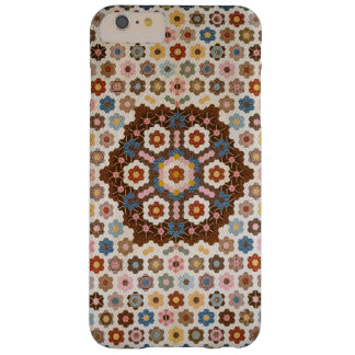 Vintage Abstract Honeycomb Colorful Quilt Pattern Barely There iPhone 6 Plus Case