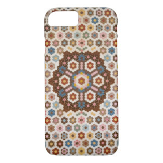 Vintage Abstract Honeycomb Colorful Quilt Pattern iPhone 8/7 Case