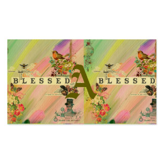 Vintage abstract painting floral steam punk shabby pack of standard business cards