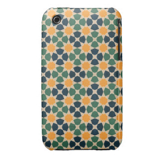 Vintage Abstract Quilt Inspired Tile Fabric iPhone 3 Case