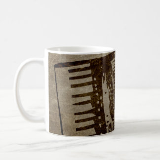 vintage accordion coffee mug
