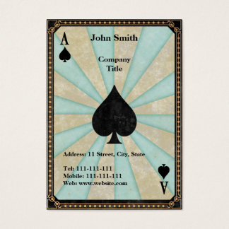 Vintage Ace of Spades Business Card