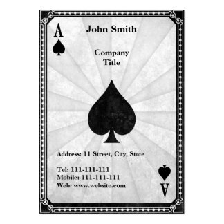 Vintage Ace of Spades Pack Of Chubby Business Cards
