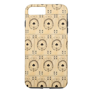 Vintage Ace Spades Playing Cards Collage iPhone 7 Plus Case