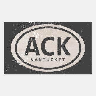 Vintage ACK Nantucket MA Beach Tag Stickers