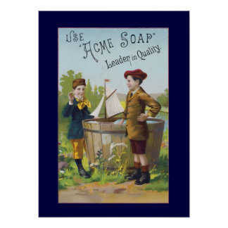 Vintage Acme Soap Ad Household Poster Print