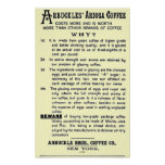 """Vintage-ad ARBUCKLES' ARIOSA COFFEE"" Poster"