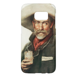 Vintage Ad Cowboy Drinking Beer