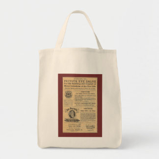 Vintage Ad for Dr Petit's Salve Grocery Tote Grocery Tote Bag