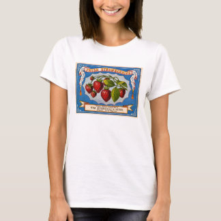 Vintage Ad for Fresh Strawberries circa 1868 T-Shirt