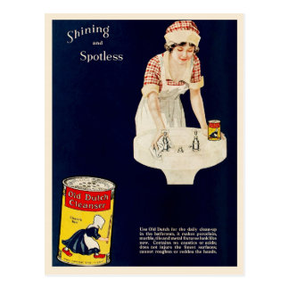 Vintage Ad for Old Dutch Cleanser Postcard