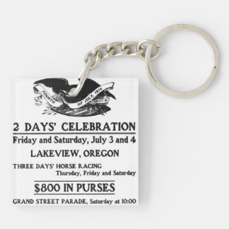 Vintage Ad Fourth of July 4th Independence Day Double-Sided Square Acrylic Key Ring