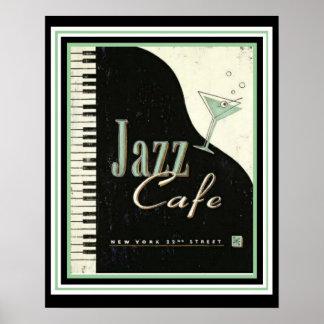 Vintage Ad Jazz Cafe Poster 16 x 20