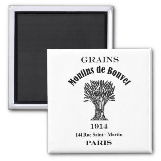 Vintage Ad Label Grains Paris 1914 Fridge Magnet