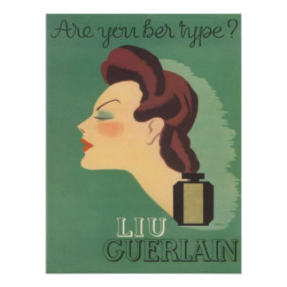 Vintage Ad Liu Perfume by Guerlain 1930s Poster